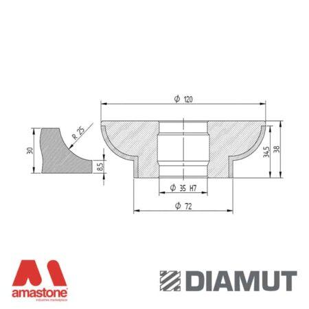 Mola Ø100 mm - Profilo L33 - Diamut