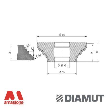 Mola Ø100 mm - Profilo O33 - Diamut