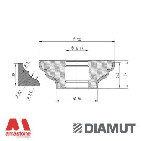 Mola Ø100 mm - Profilo Q33 - Diamut
