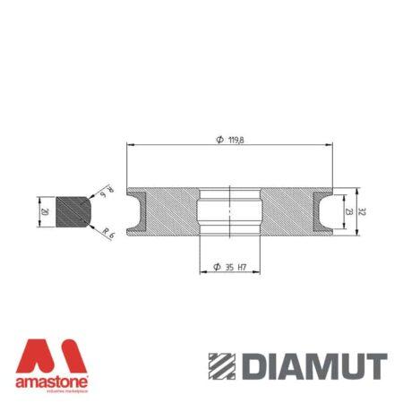 Mola Ø100 mm - Profilo T23 R6 - Diamut