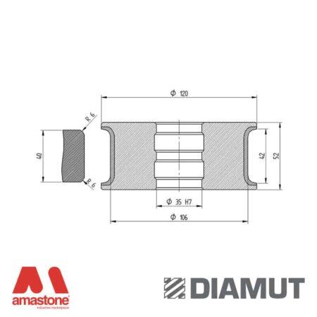 Mola Ø100 mm - Profilo T42 R6 - Diamut