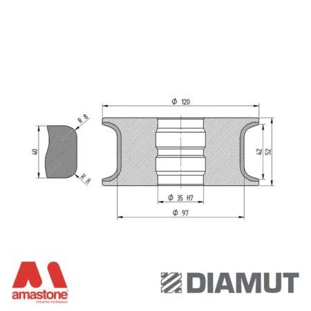 Mola Ø100 mm - Profilo T42 R8 - Diamut