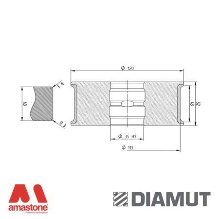 Mola Ø100 mm - Profilo T43 R3 - Diamut