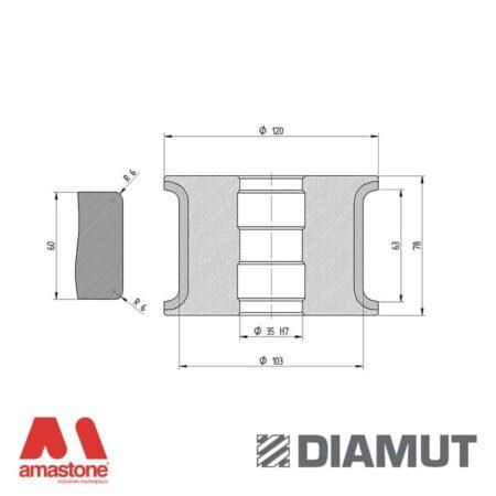 Mola Ø100 mm - Profilo T63 R6 - Diamut