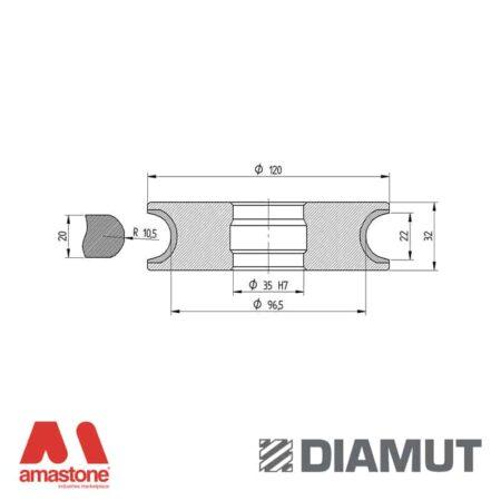 Mola Ø100 mm - Profilo V22 - Diamut