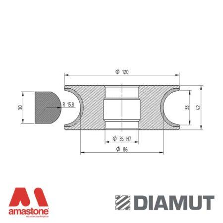 Mola Ø100 mm - Profilo V33 - Diamut