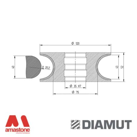 Mola Ø100 mm - Profilo V43 - Diamut