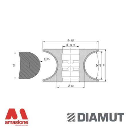 Mola Ø100 mm - Profilo V63 R30 - Diamut