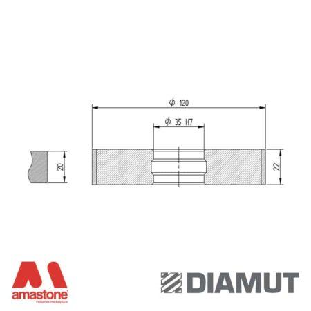 Mola Ø100 mm - Profilo Z22 - Diamut