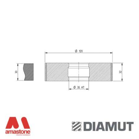 Mola Ø100 mm - Profilo Z33 - Diamut