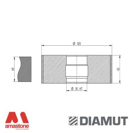 Mola Ø100 mm - Profilo Z43 - Diamut