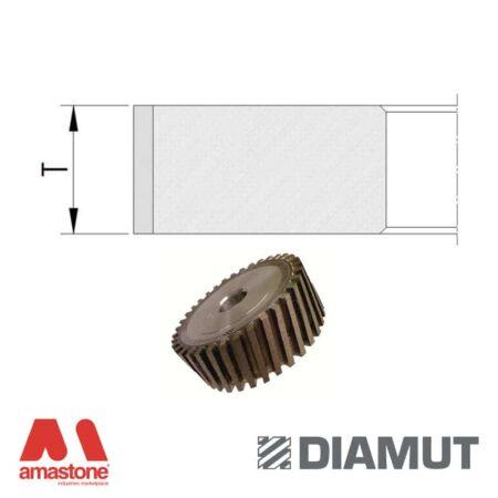 Mole periferiche a settori profilo piatto Ø100 mm - Vetro stratificato - Diamut