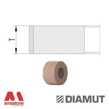 Mole periferiche lucidanti standard profilo piatto Ø25 mm - Vetro - Diamut