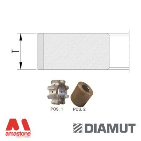 Mole periferiche profilo piatto Ø25 mm – Vetro – Diamut