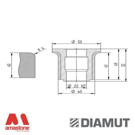 Mola Ø40 mm - Profilo A43 R6 - Diamut