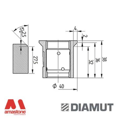 Mola Ø40 mm - Profilo E36 B4 - Diamut