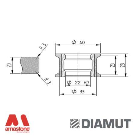 Mola Ø40 mm - Profilo T23 R3 - Diamut
