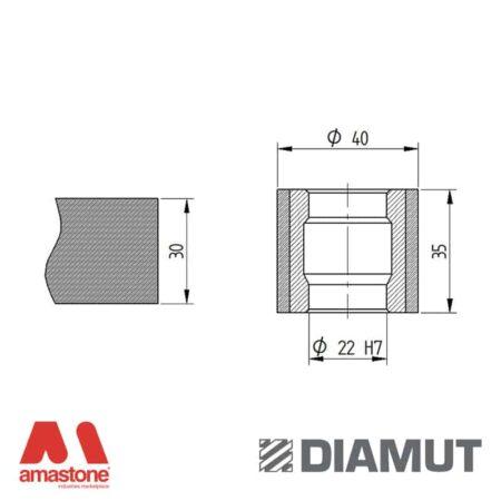 Mola Ø40 mm - Profilo Z35 - Diamut