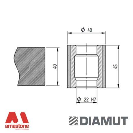 Mola Ø40 mm - Profilo Z45 - Diamut