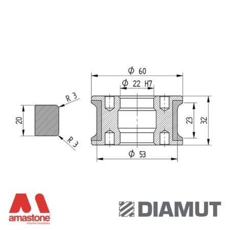 Mola Ø60 mm - Profilo T23 R3 - Diamut