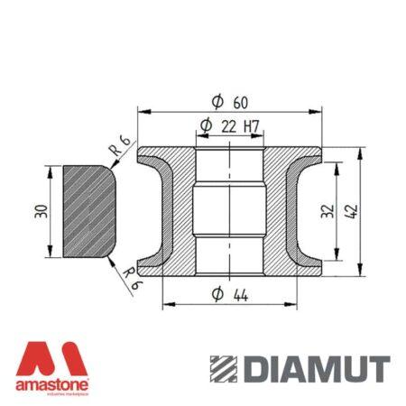 Mola Ø60 mm - Profilo T32 R6 - Diamut