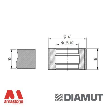 Mola Ø60 mm - Profilo Z33 - Diamut