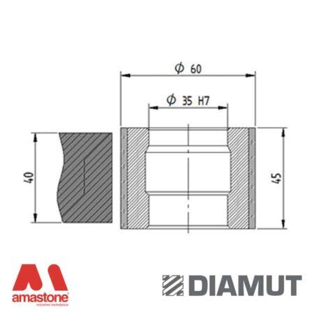 Mola Ø60 mm - Profilo Z45 - Diamut