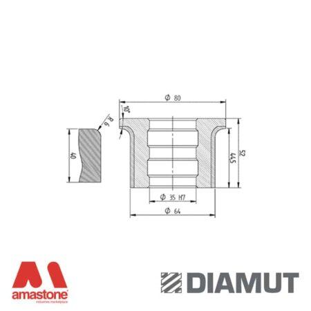 Mola Ø80 mm - Profilo A43 R6 - Diamut
