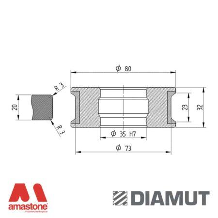Mola Ø80 mm - Profilo T23 R3 - Diamut