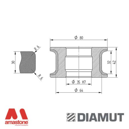 Mola Ø80 mm - Profilo T32 R6 - Diamut