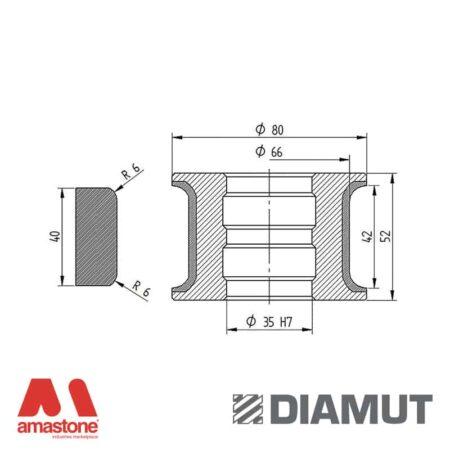 Mola Ø80 mm - Profilo T42 R6 - Diamut