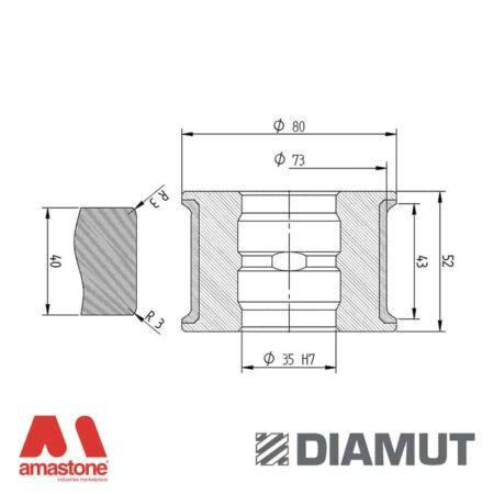 Mola Ø80 mm - Profilo T43 R3 - Diamut