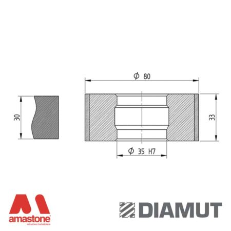 Mola Ø80 mm - Profilo Z33 - Diamut
