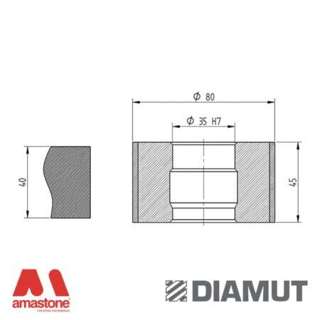 Mola Ø80 mm - Profilo Z45 - Diamut