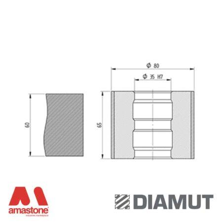 Mola Ø80 mm - Profilo Z65 - Diamut