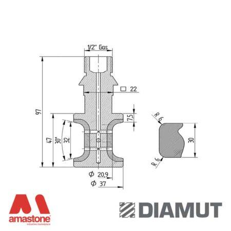 Mola interno lavelli Ø20 mm - Profilo T32 R6 - Diamut