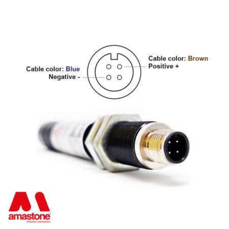 Schema connessione laser di posizionamento rosso Ø20 mm- Amastone